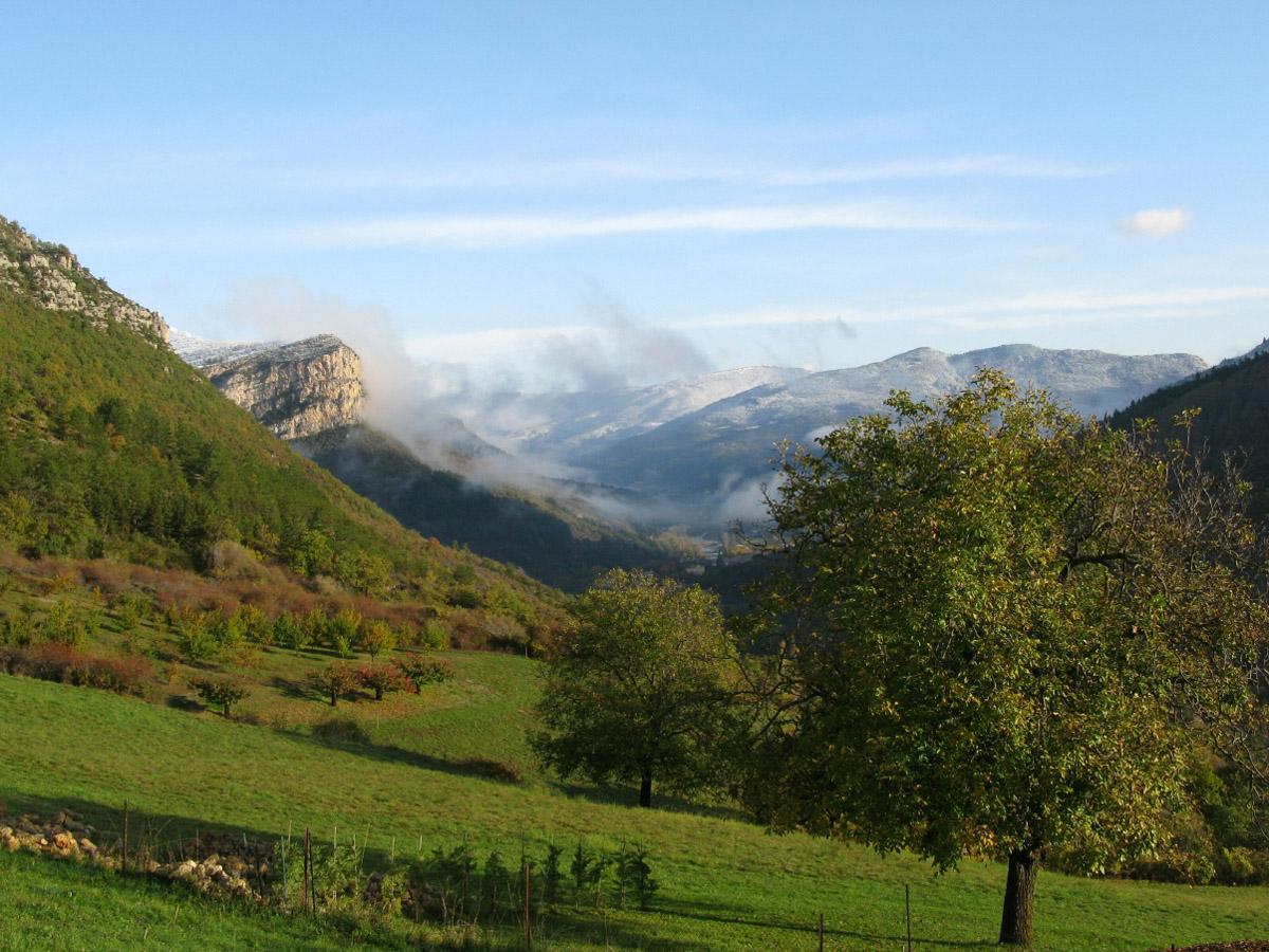 Boerencamping met prachtig uitzicht in de Drôme