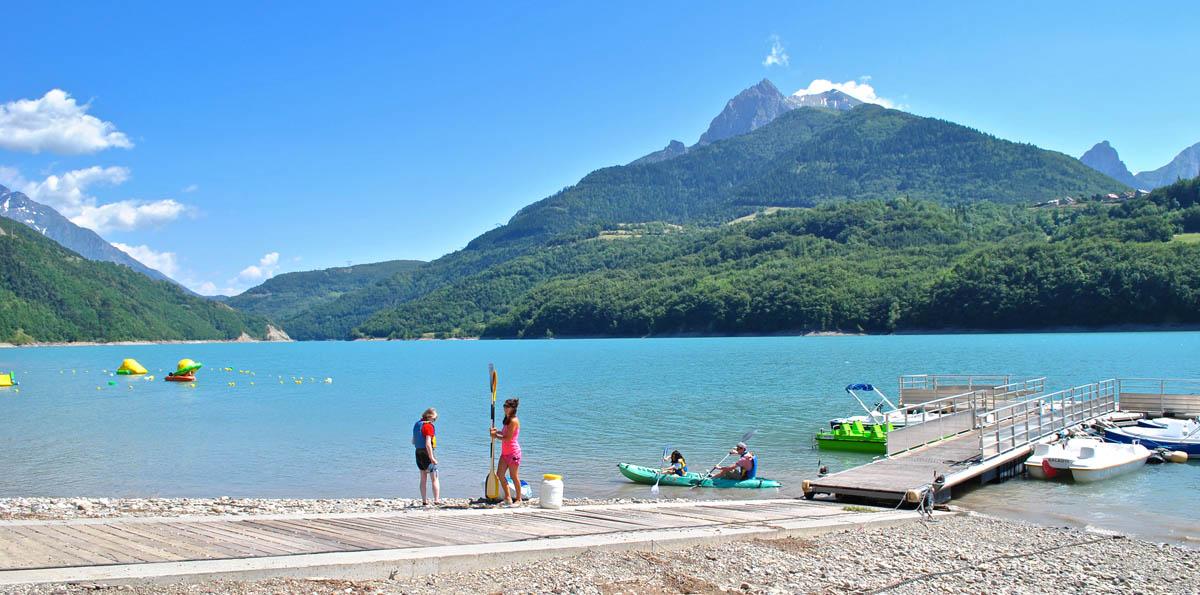 Campings aan een meer in Frankrijk
