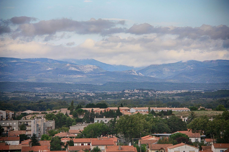Uitzicht op de Pyreneeën.