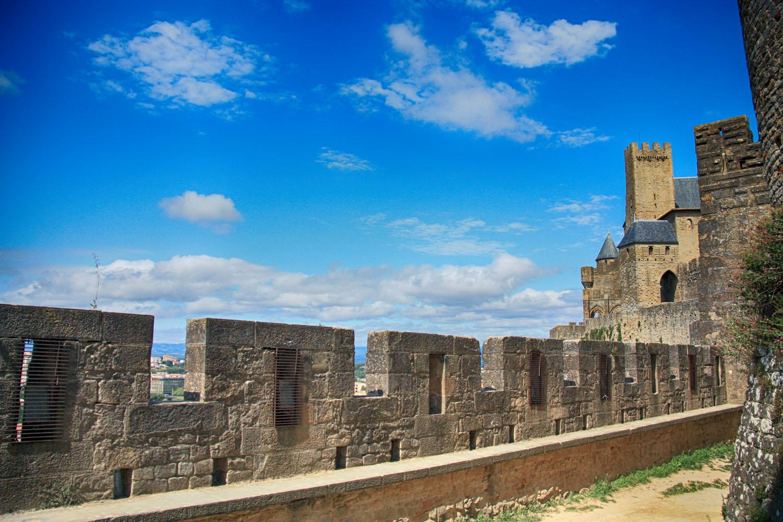 Gelukkig begon het weer 's middags flink op te klaren. Carcassonne wordt alleen nog maar mooier wanneer de zon uitbundig schijnt!