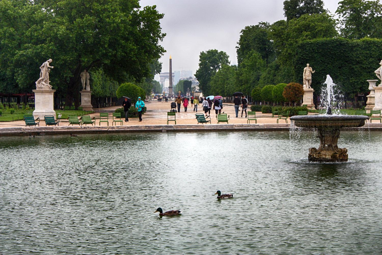 Parijs bij regen