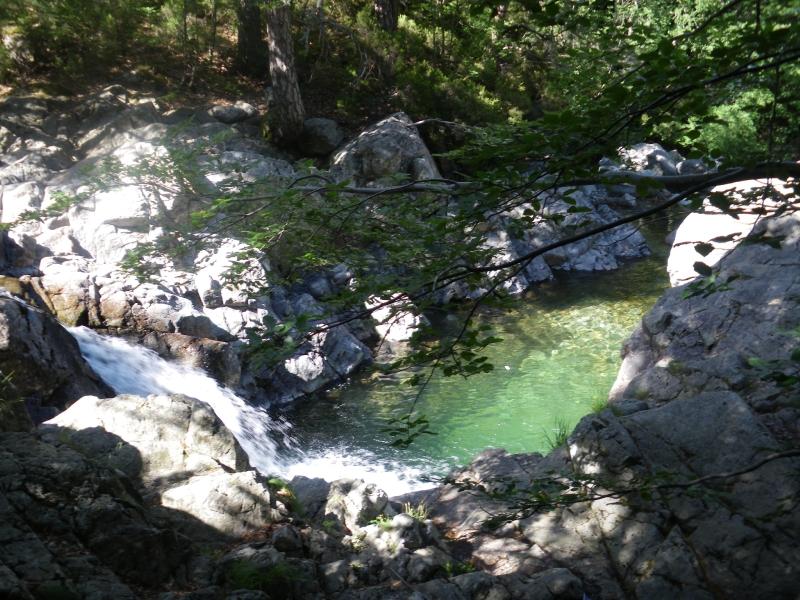 Watervallen en zwemplek Cascades des Anglais, Vizzavona, Corsica