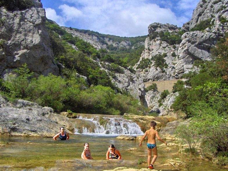 Zwemplek Gorges de Galamus, Aude, Frankrijk