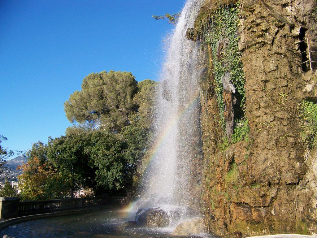 Waterval Cascade Parc de la Colline du Château, Nice