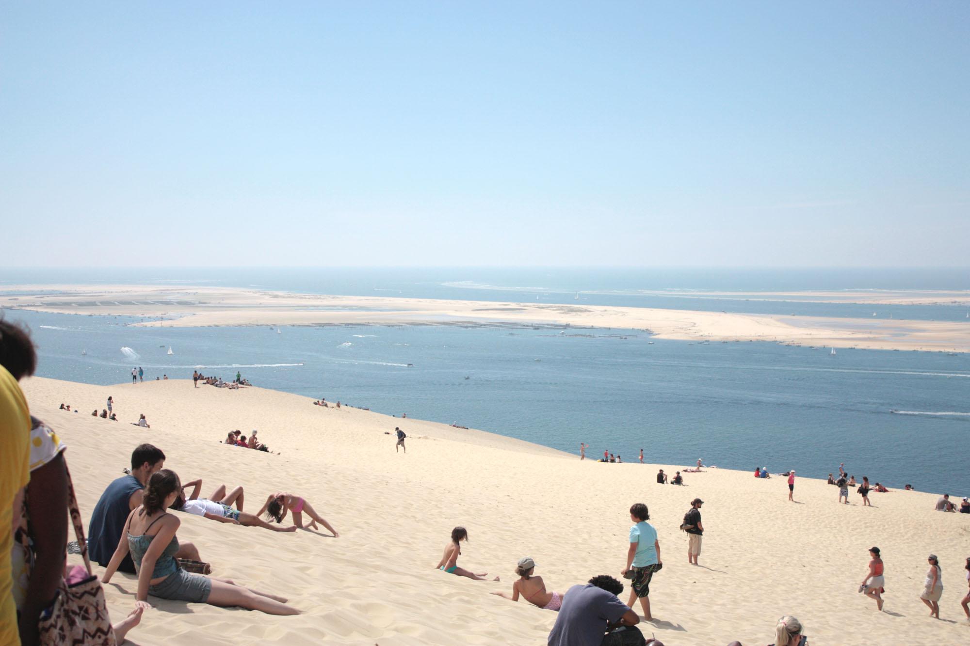 Uitzicht vanaf de Dune du Pilat