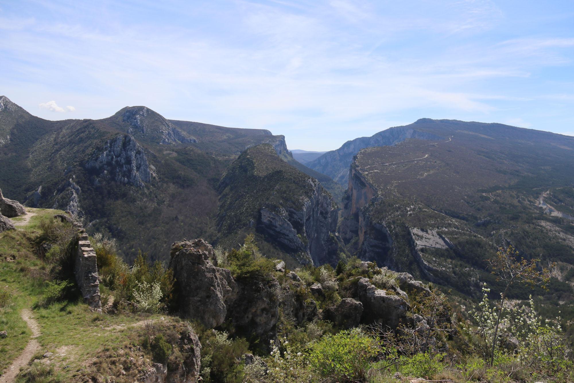Uitzicht op de Gorges vanaf Rougon