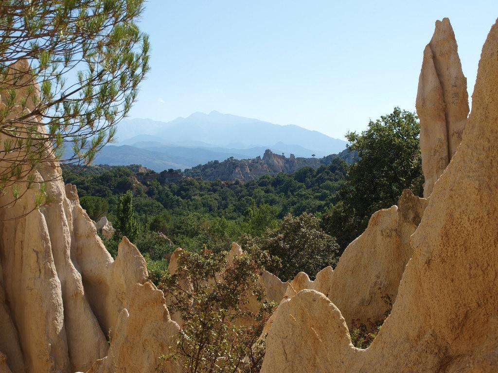 Orgels / Les Orgues d'Ille-sur-Têt, spectaculaire rotsen in de Franse Pyreneeën
