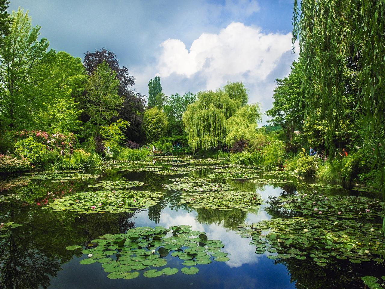 Vijver in de tuin van Claude Monet, Giverny