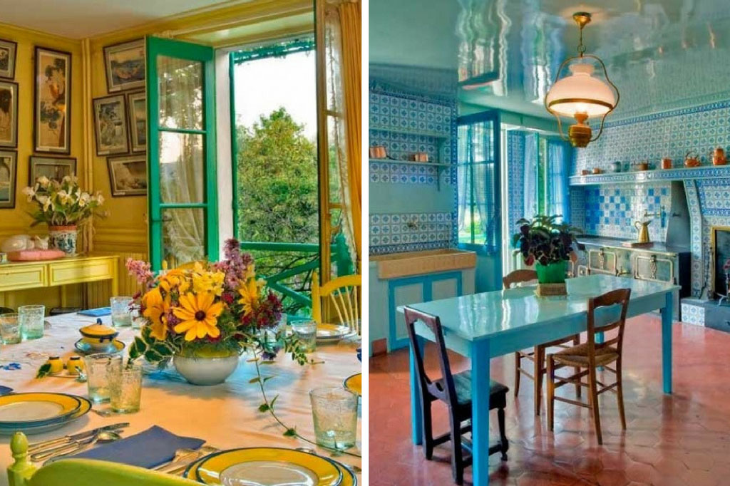 Gele en blauwe kamer - Maison Claude Monet Giverny