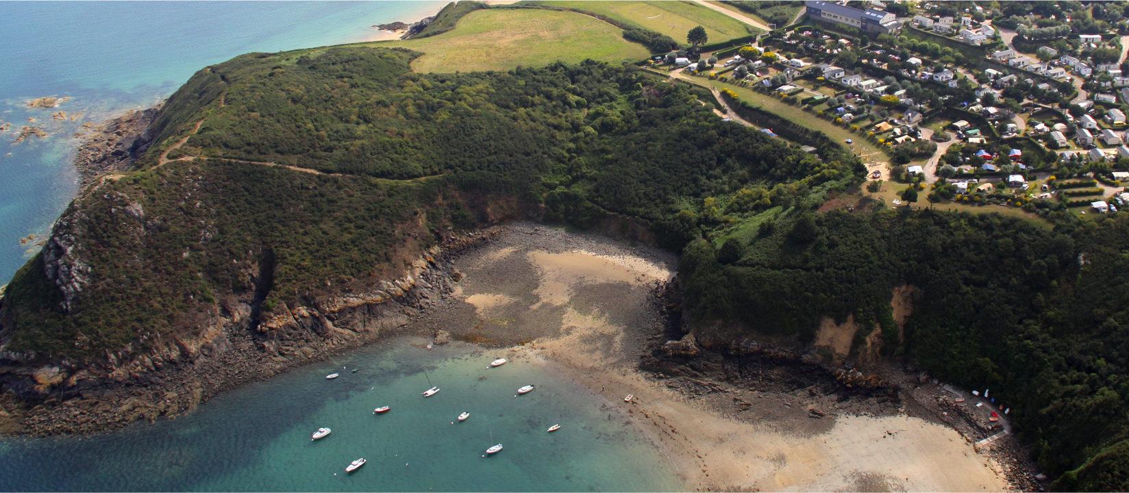 Le Châtelet, prachtig gelegen camping aan de kust van Bretagne