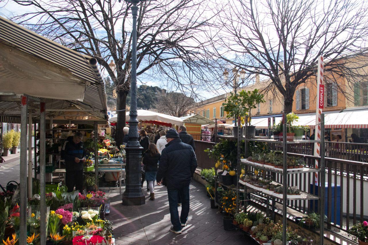Markt op de Cours Saleya