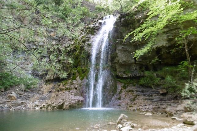 Cascade des Mathieux, waterval nabij Bugarach.