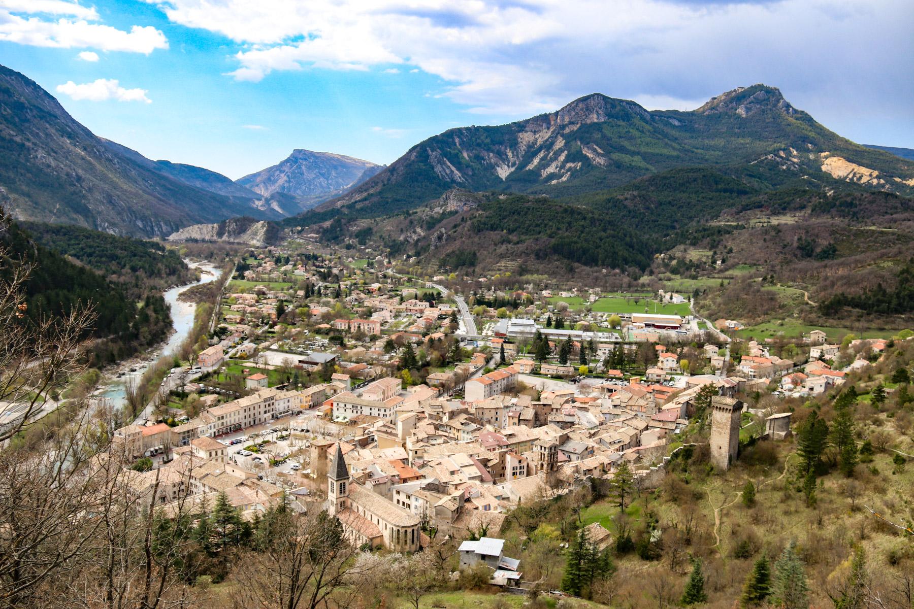 Vanaf de heuvel in Castellane