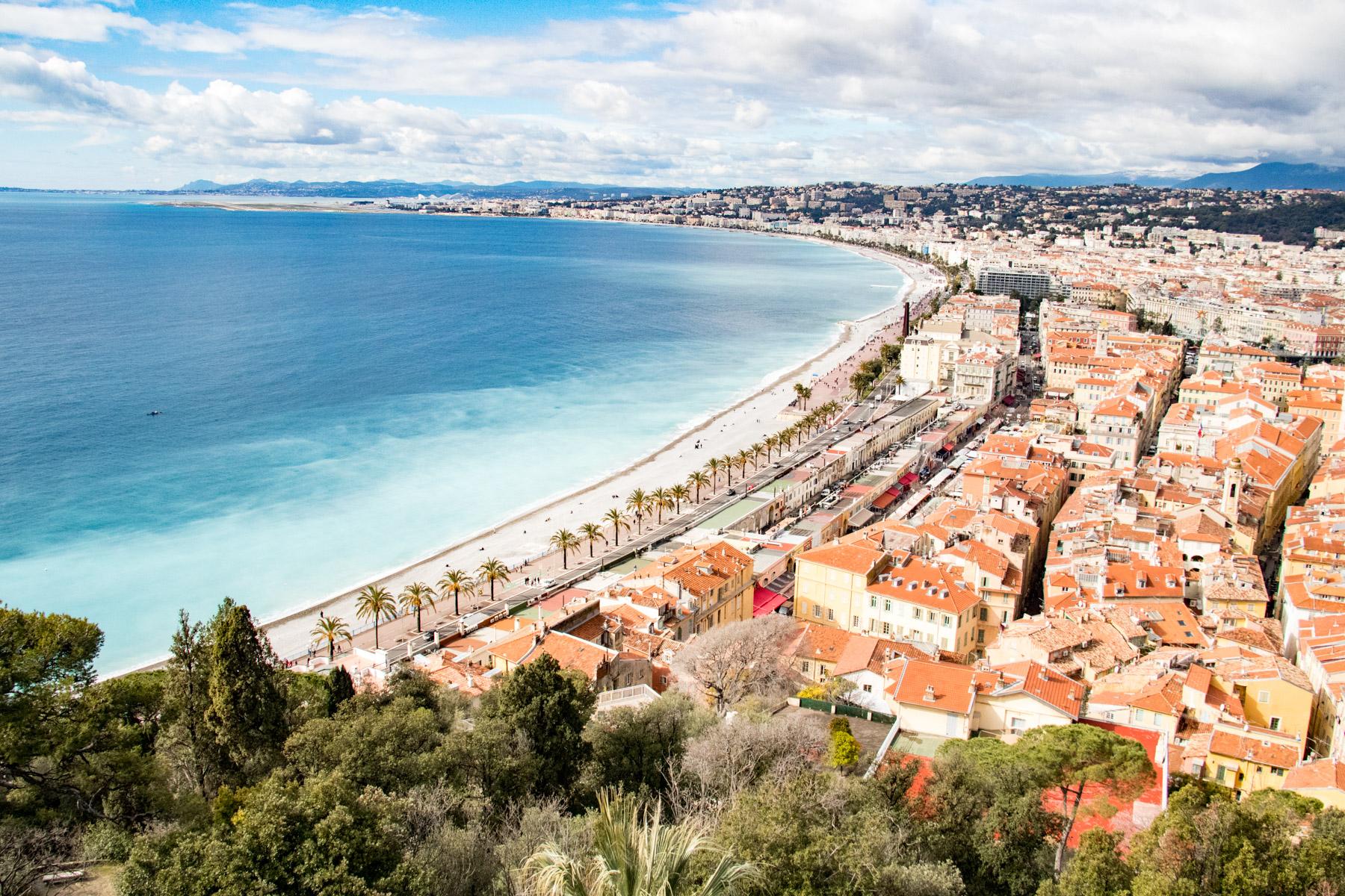 Uitzicht op Nice.