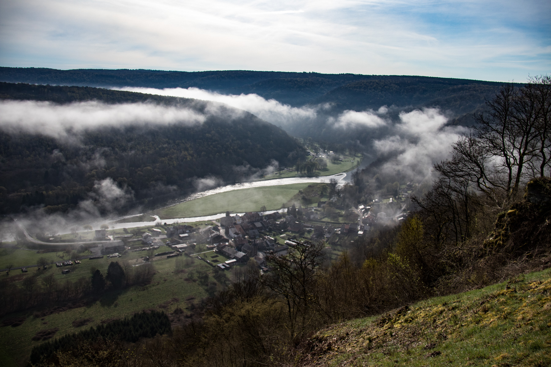 Uitzicht over de Vallée de la Semois.
