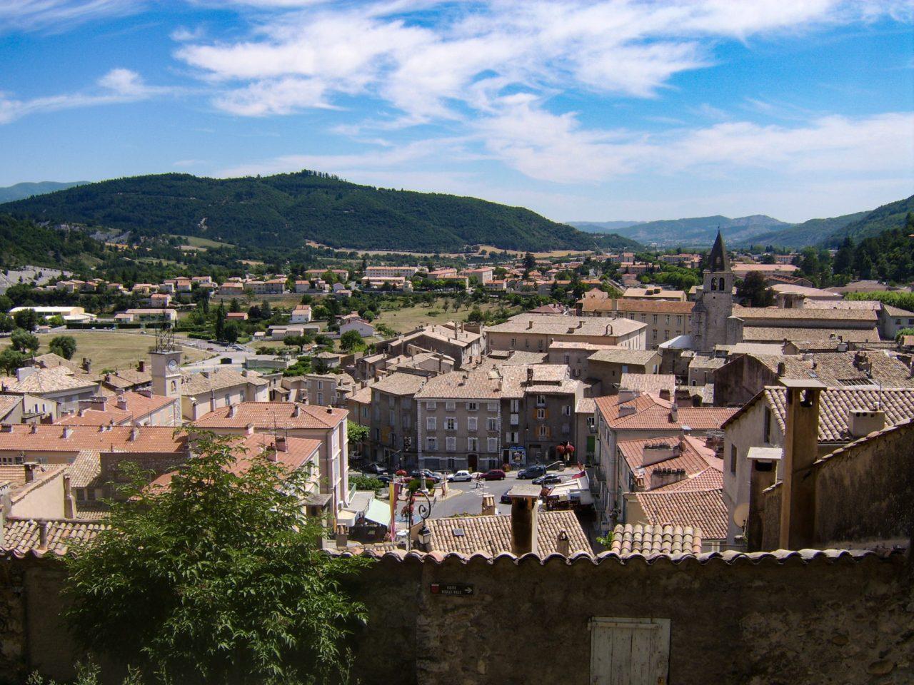 Uitzicht op Sisteron