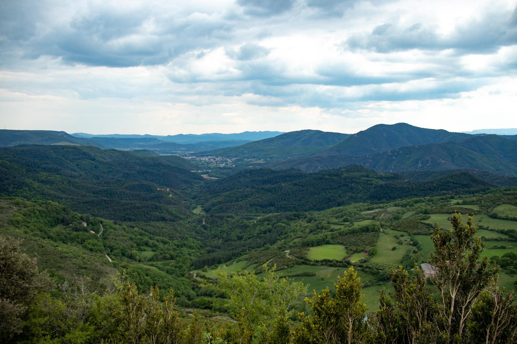 Uitzicht op de bergen van de Haut-Languedoc