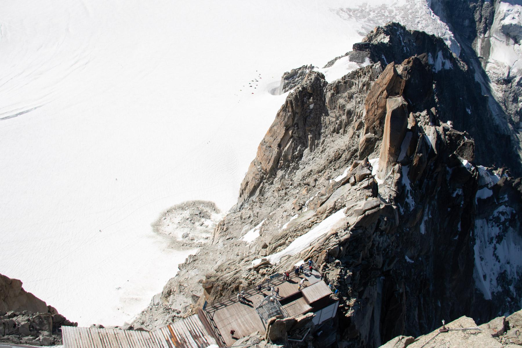 Bovenop de Aiguille du Midi