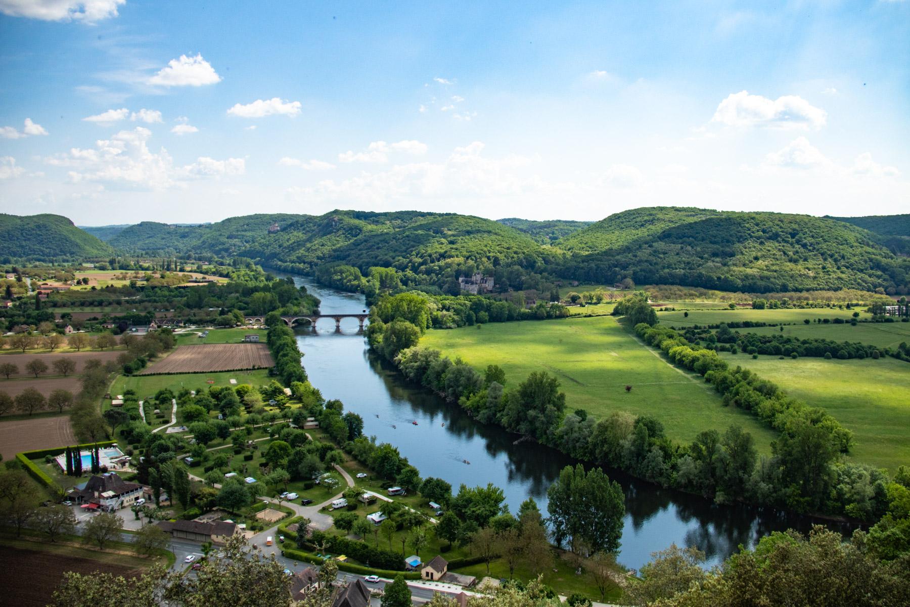 Uitzicht vanaf Beynac-et-Cazenac