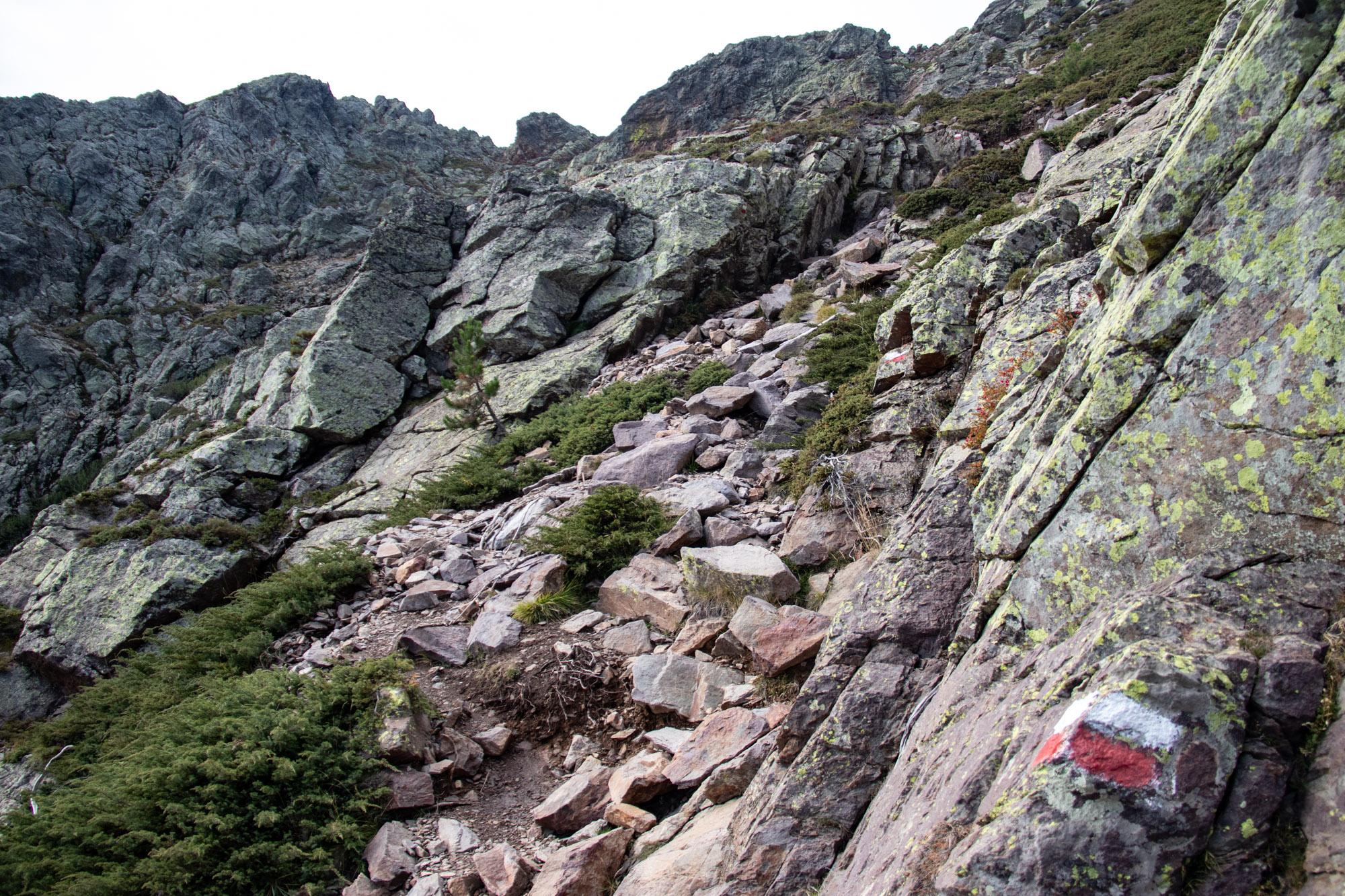 Wandeling Naar Een Bergtop Op Corsica De Muvrella Bij Haut Asco