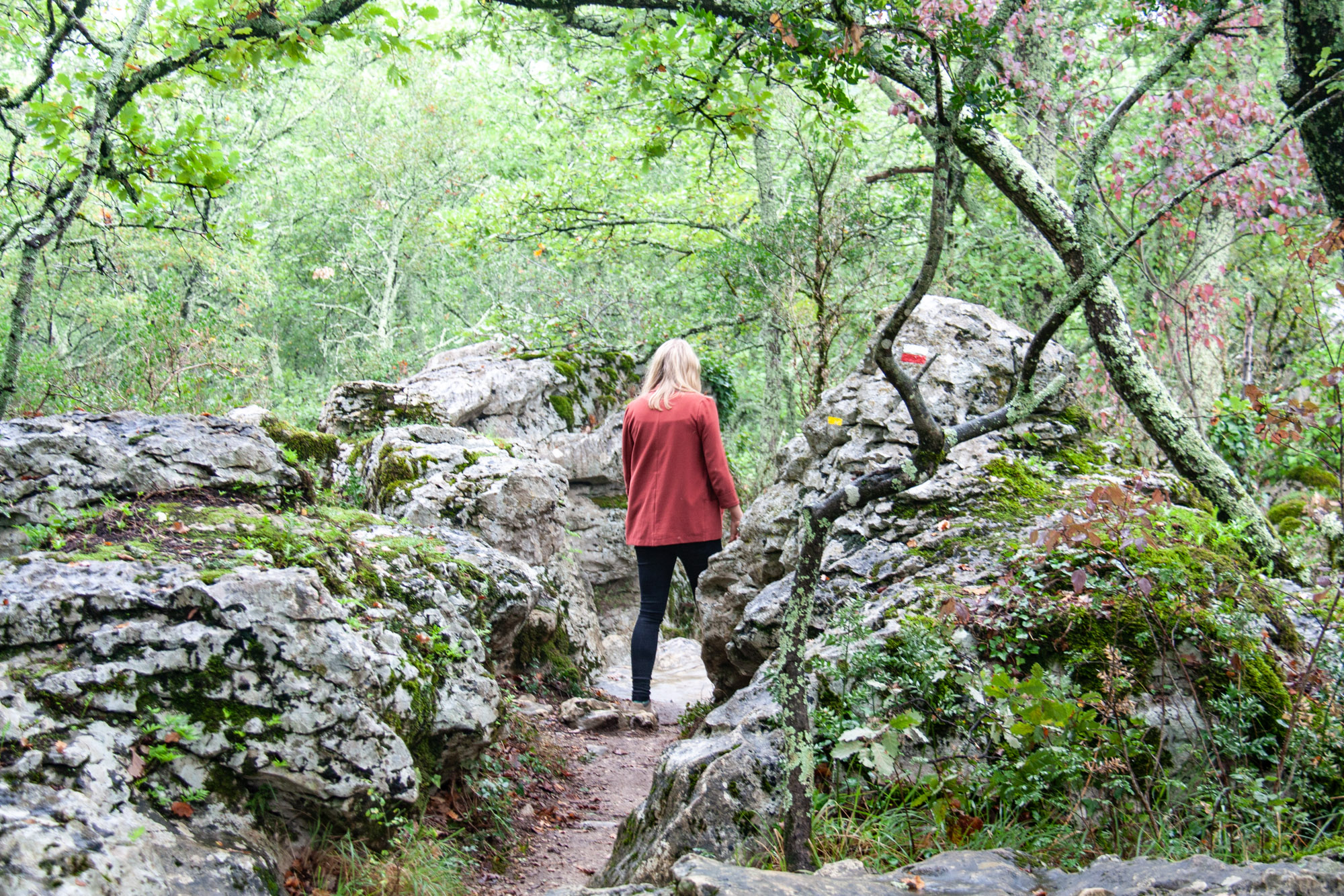 Boïs de Païolive, wandeling Ardèche