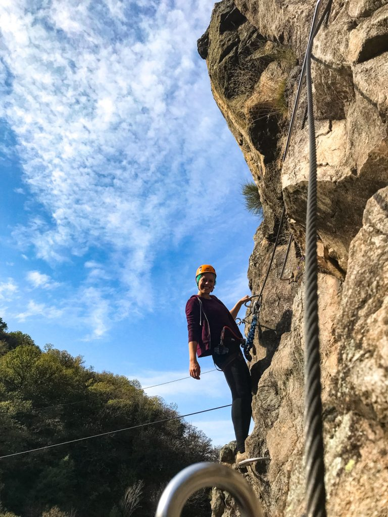 Via ferrata bij Thueyts in de Ardèche