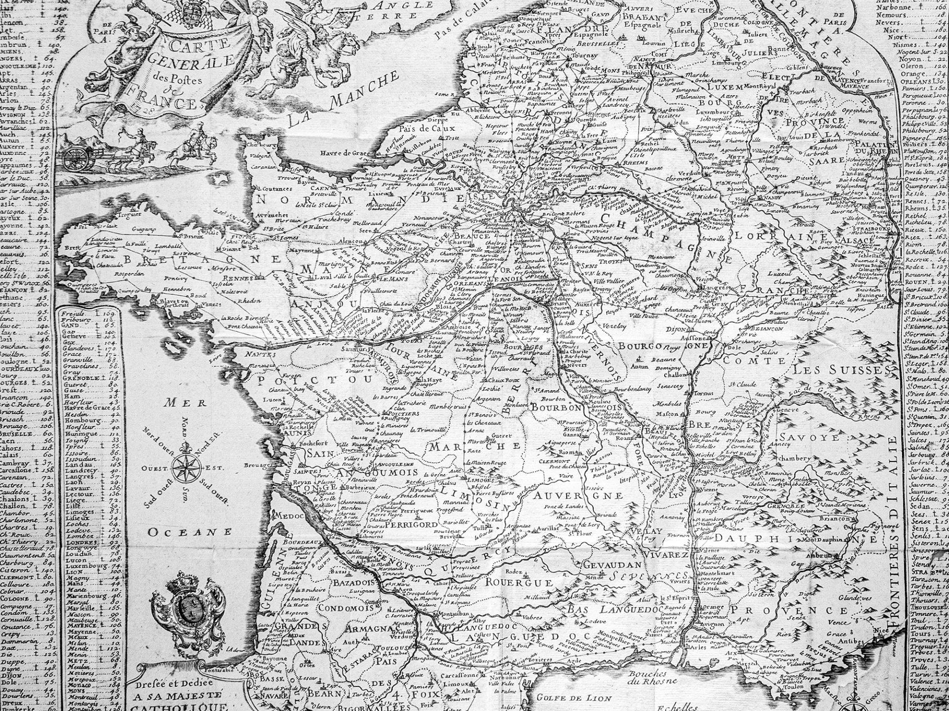 Reizen door Frankrijk en Parijs, driehonderd jaar geleden