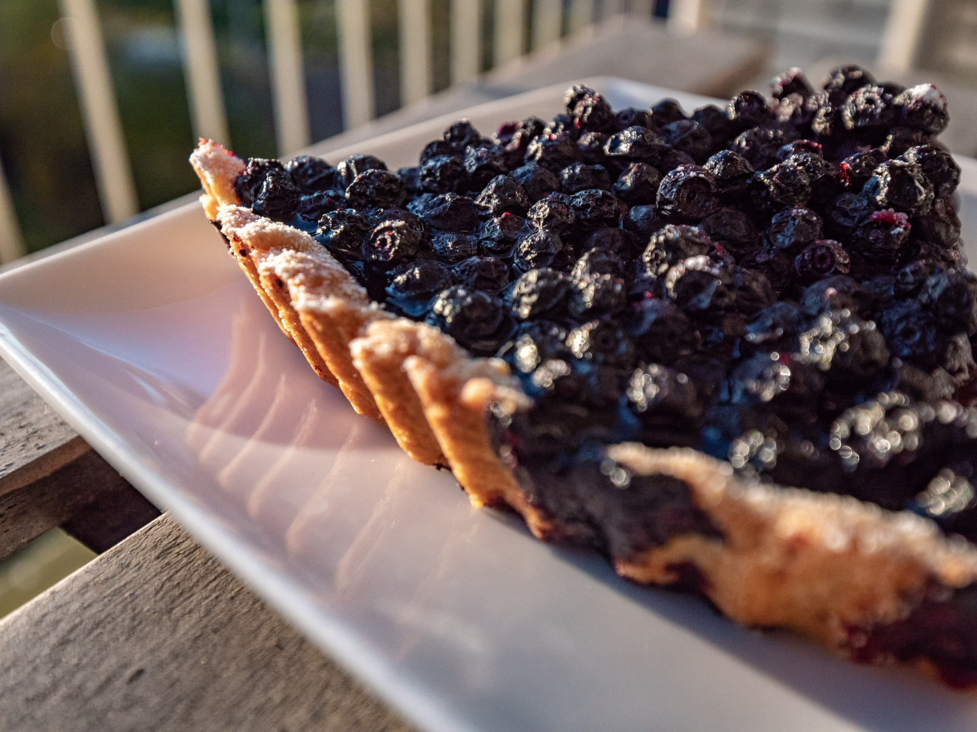 Bosbessentaart (tarte aux myrtilles)
